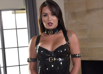 Bianka Nascimento Black Latex Dress