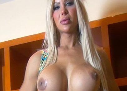 TGirl TS Azeneth Showing off her Cock